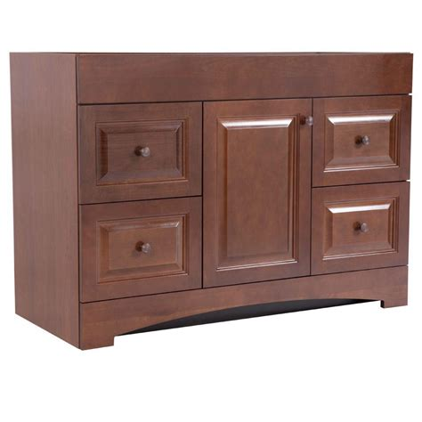 home depot bathroom cabinets and vanities glacier bay regency 48 in vanity cabinet only in auburn