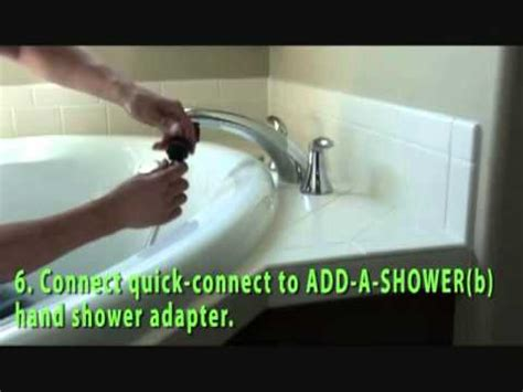 Bath To Shower Conversion Kit how to add a shower to your roman tub faucet youtube