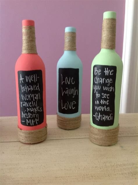 Chalkboard Wine Bottles Diy