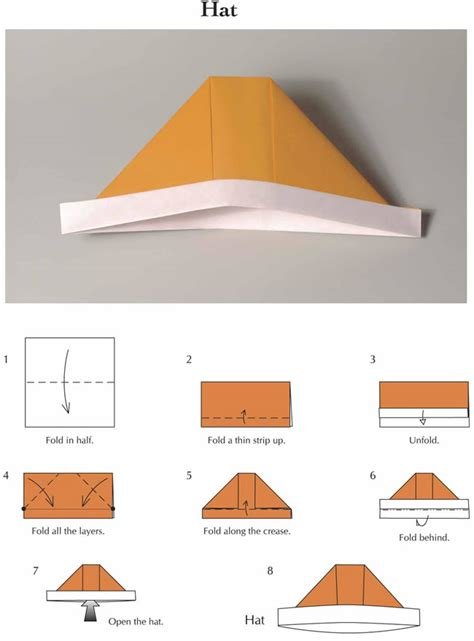 how to make an origami hat welcome to dover publications