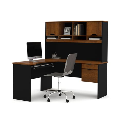 l computer desk with hutch bestar innova l shape computer desk with hutch reviews