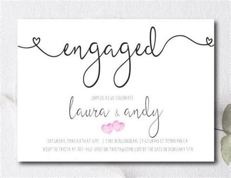 how to make engagement invitation cards engagement invite engagement invitation