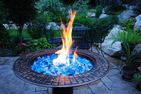 glass for pit custom pits features outdoor fireplaces