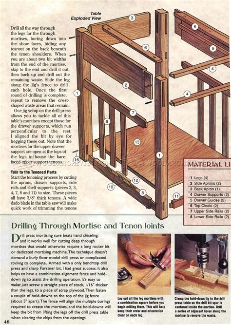 arts and crafts coffee table plans arts crafts table plans