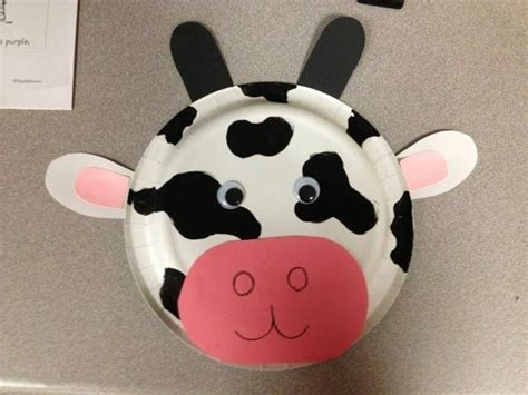 paper plate cow craft 17 best images about theater on owl mask cat
