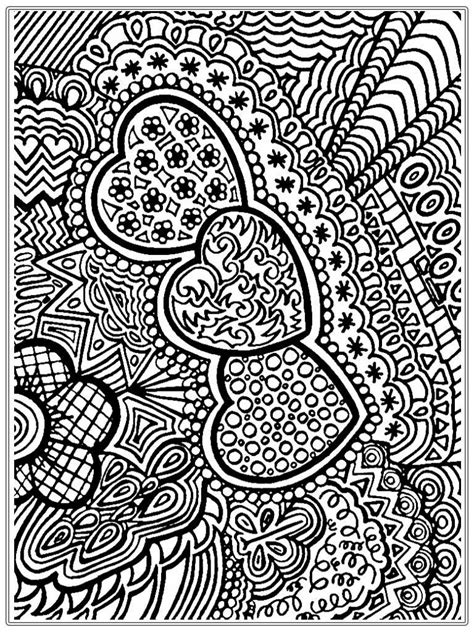 for adults and hearts and flower coloring pages printable for