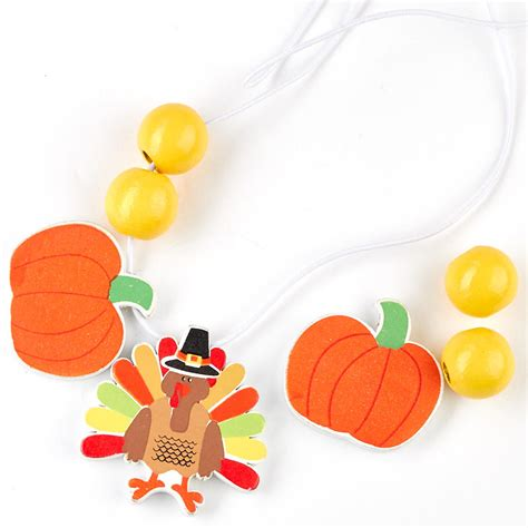 thanksgiving craft kits for turkey necklace craft kit craft kits