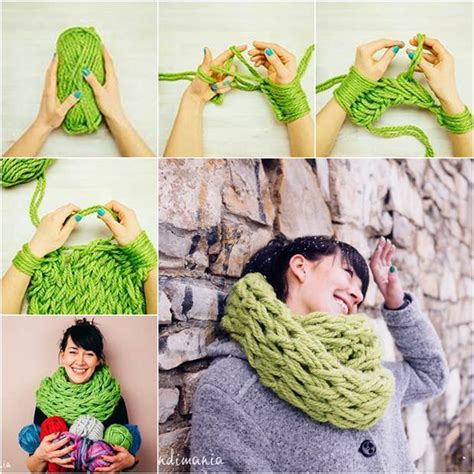 how do you start a knitting project how to diy easy arm knitted scarf