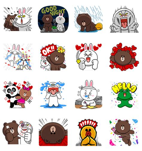 line sticker line characters overreaction line stickers