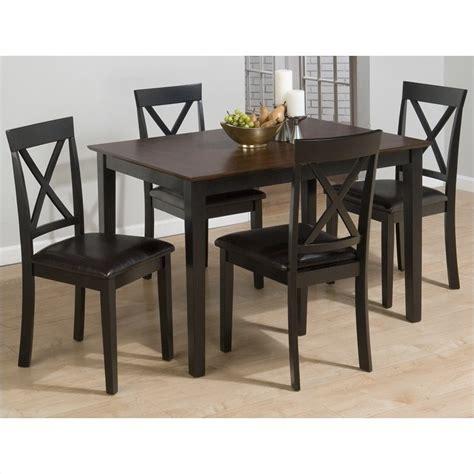 black 5 dining set jofran 261 series 5 dining table set in burly brown and black 261