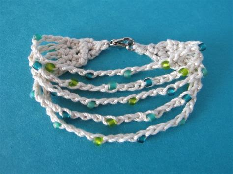 crochet beaded bracelet pattern wind fiber studio crochet patterns