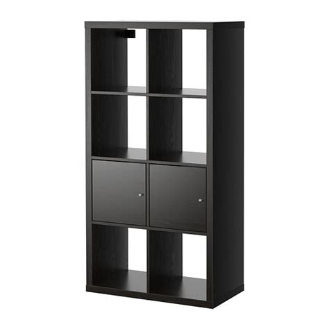 shelving unit with doors kallax shelving unit with doors black brown 30 3 8x57 7