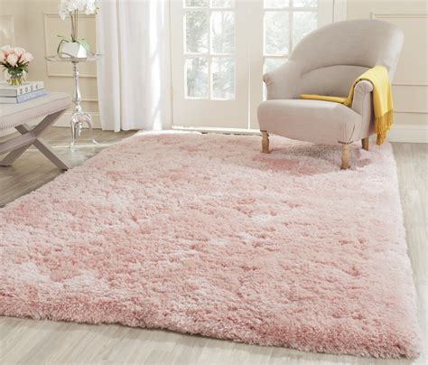 pink shag rug safavieh tufted pink polyster shag area rugs sg270p