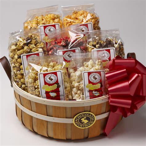 popcorn gifts popcorn sler basket custom handmade chocolates