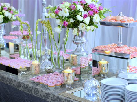 buffet table decorations wedding buffet ideas using flowers for buffet table