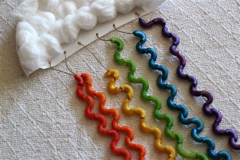 macaroni crafts for lille punkin macaroni rainbow craft with cloud great