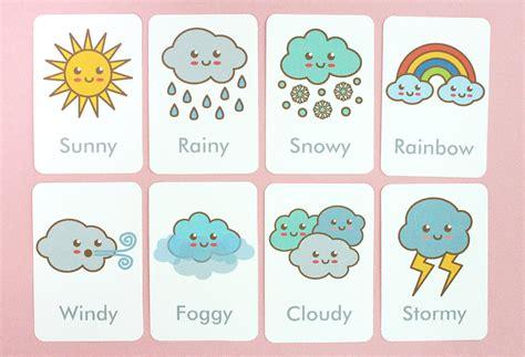make flash cards printable free printable weather flash cards
