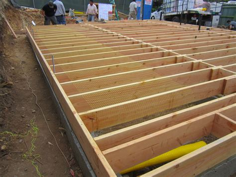 how to build a floor for a house foundations