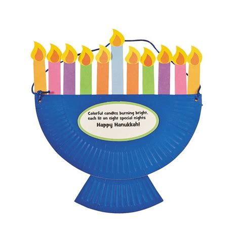 hannukah crafts for hanukkah paper plate menorah craft not sure why the