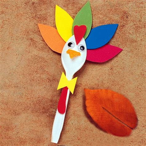 turkey craft project thanksgiving turkey spoon craft live outside the box
