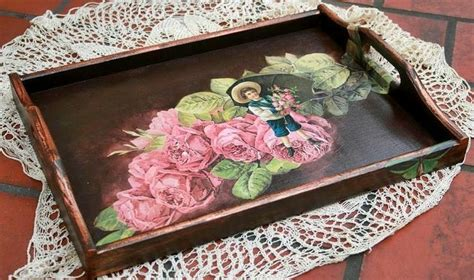 decoupage a tray decoupage tray pяℯт ƴ trays