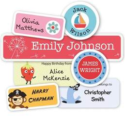 Large Alphabet Wall Stickers name labels and clothing labels for kids tinyme