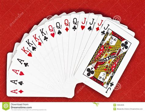 how to make deck of cards deck of cards royalty free stock image image 18354636