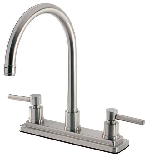 kitchen faucets contemporary contemporary modern concord satin nickel kitchen faucets