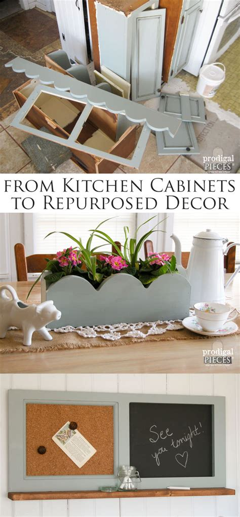 repurposed kitchen cabinets repurposed kitchen cabinets into home decor prodigal pieces
