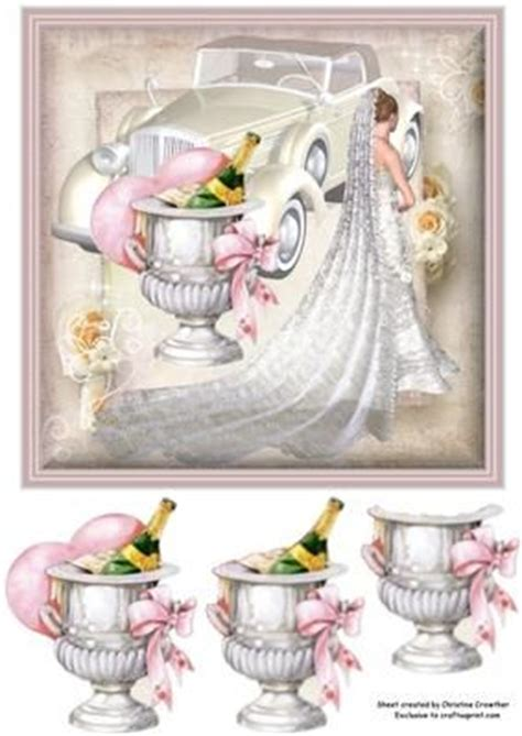 wedding decoupage the chagne and chagne buckets on
