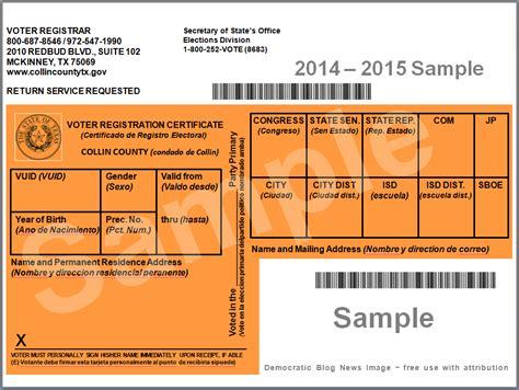 how to make voter card democratic news voter registration card 2014 15