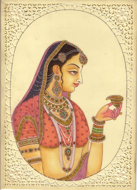 indian painting photo indian miniature painting handmade of watercolor