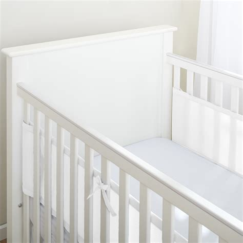 breathable baby crib liner breathablebaby 174 classic mesh liner for solid end cribs