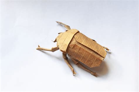origami beetle 24 incredibly realistic looking origami insects