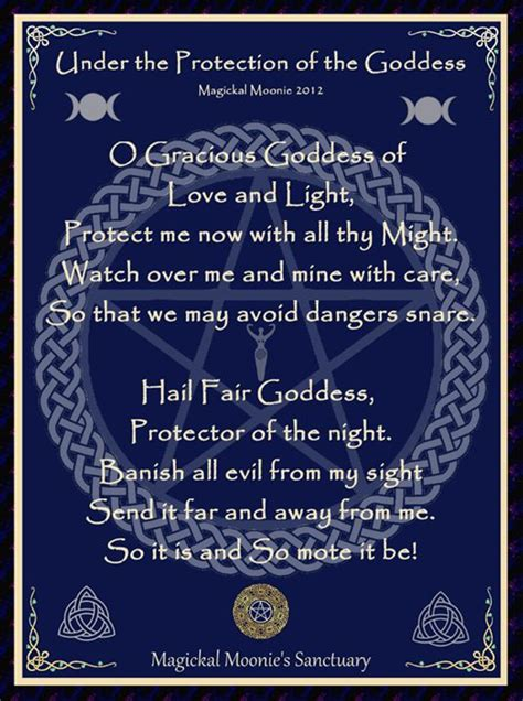 witches prayer goddess prayer for protection spells posts