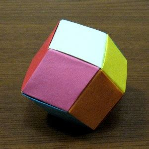 rhombic dodecahedron origami rhombic dodecahedron