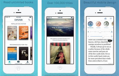 apps to read oyster is an unlimited book reading app the gadgeteer