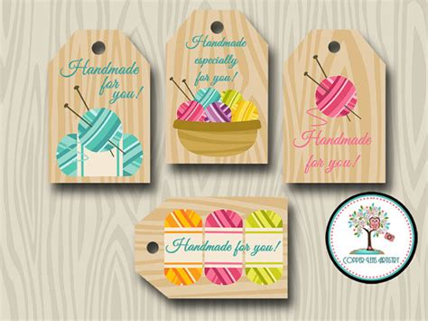 made by tags for knitting handmade for you tags knit gift tags favor tags yarn
