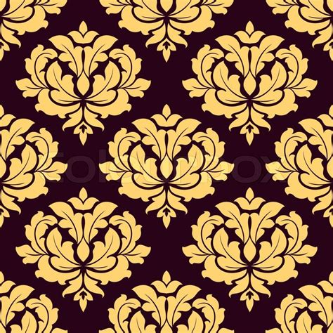 Home Textile Design Jobs pretty gold and brown damask style seamless pattern with