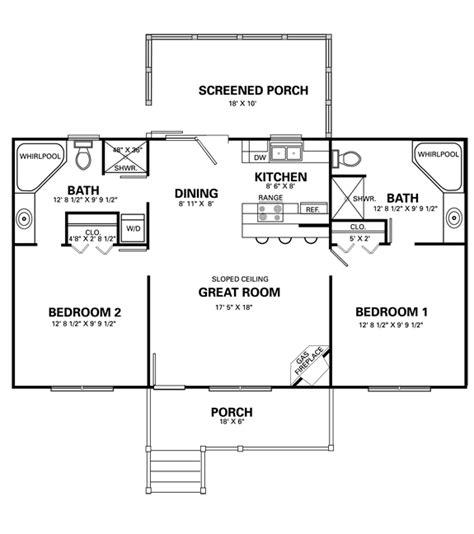 2 bedroom cottage house plans two bedroom cottage plans marceladick