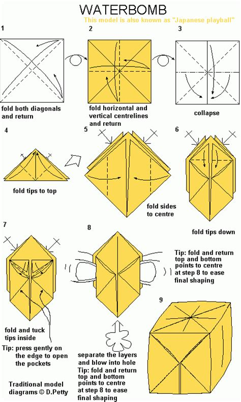 origami water bomb pdf waterbomb po archives