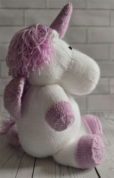 knitted unicorn sprinkle the unicorn knitting by post