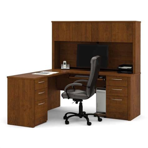 wood computer desks for home bestar embassy l shape home office wood computer desk set