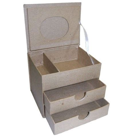 decoupage cardboard boxes details about cardboard jewellery box 2 drawers craft