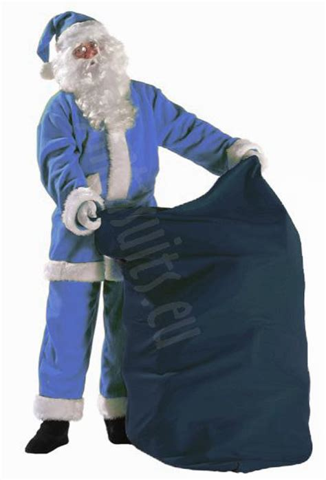 blue santa blue santa sack santa suits