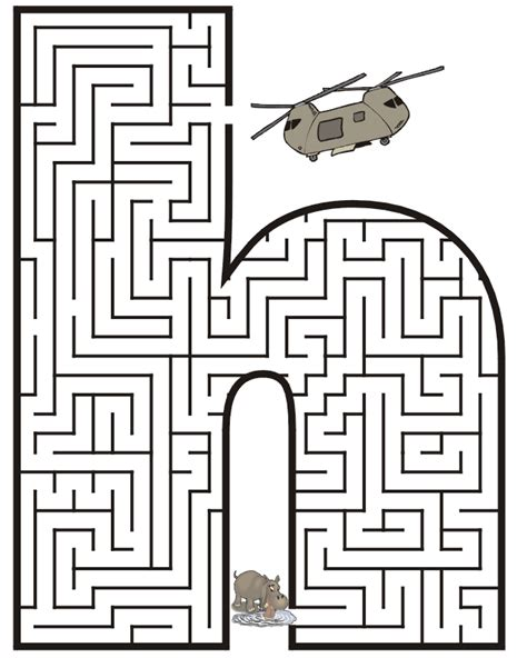 free h free mazes for coloring pages
