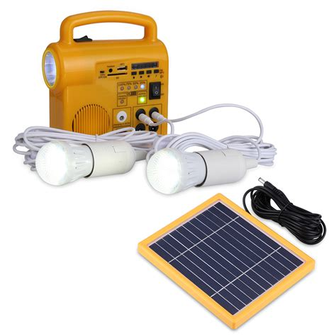 solar led lighting system multi function solar panel lighting system 2 led light