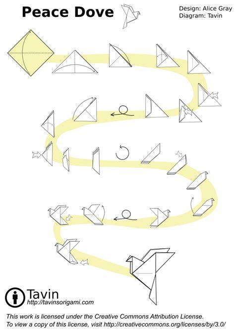 origami dove printable origami peace dove tavin s origami