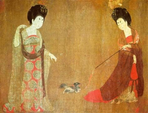 chino painting in china zhou fang painter during the mid tang dynasty
