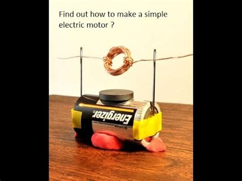 Easy Electric Motor by Simple Electric Motor Science Project